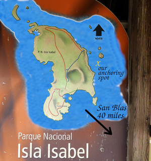 Map of Isla Isabel