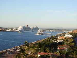 Mazatlan harbour with cruise ships