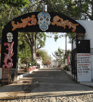 Entrance to Cemetary in San Blas