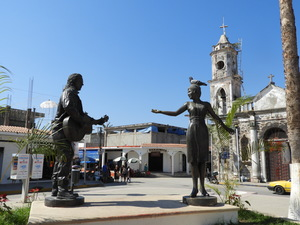 Statue of Dancers in San Blas Square