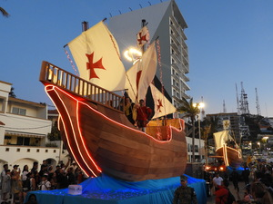 Wooden ship Parade float