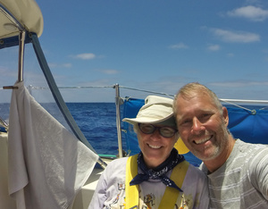 Barb and Bjarne after a week at sea