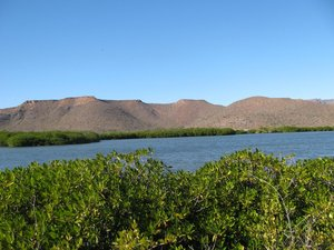 large lagoon surrounded by mangroves at San Gabriel
