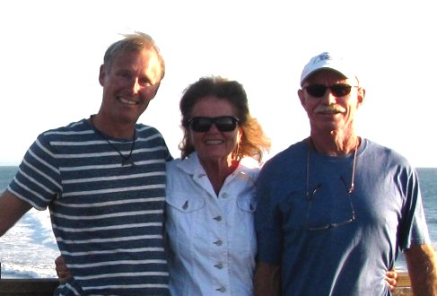 Bjarne, Judy and Dave at Oceanside pier leading out to Diner