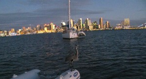 Night-time view of San Diego from Cruiser's Anchorage